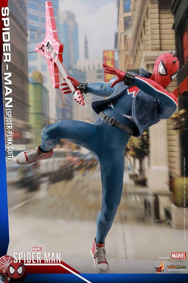 Hot Toys Spider Man Spider Punk Figure 11