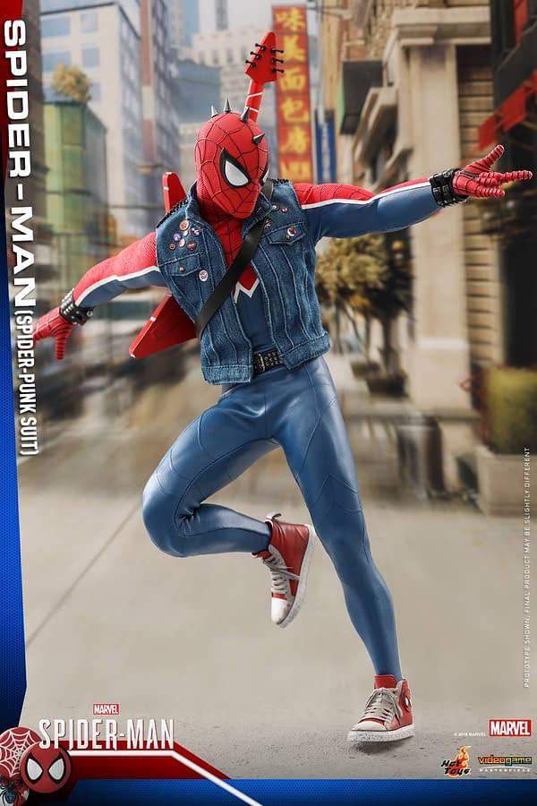 Hot Toys Spider Man Spider Punk Figure 13