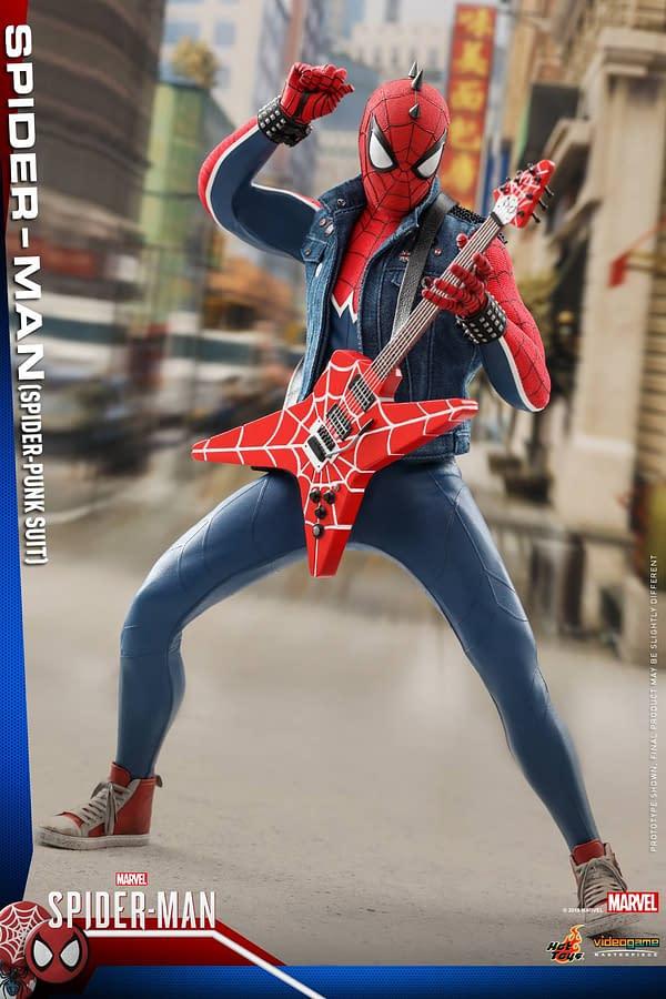 Hot Toys Spider Man Spider Punk Figure 5