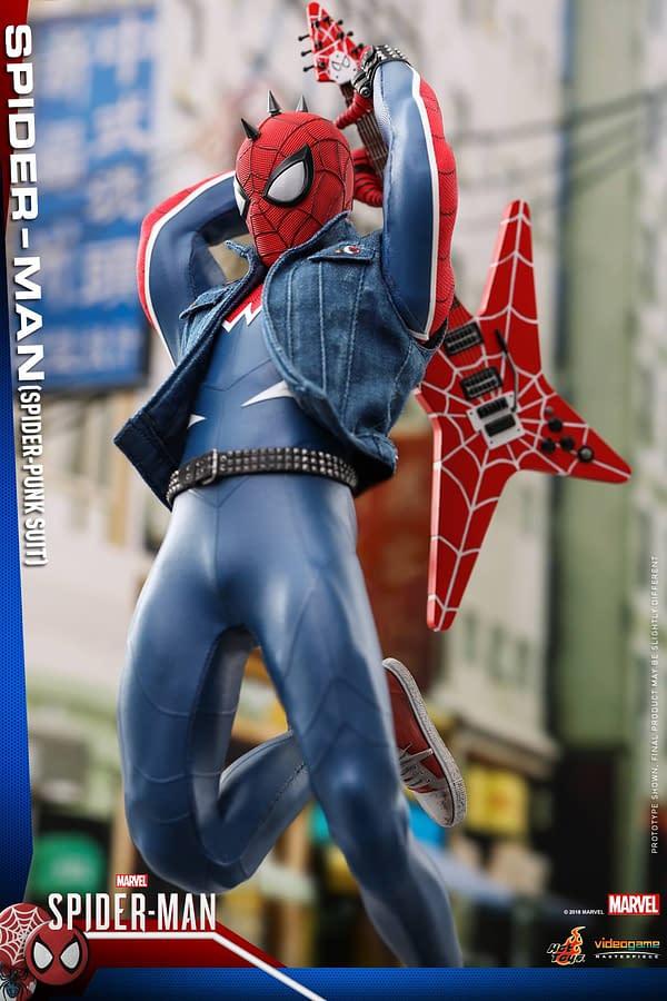 Hot Toys Spider Man Spider Punk Figure 6