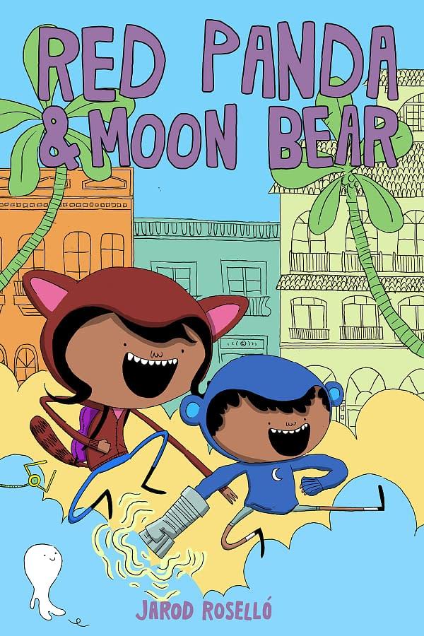 Latinx Kids Save the Neighborhood with Magic Hoodies in Jarod Roselló's Red Panda & Moon Bear