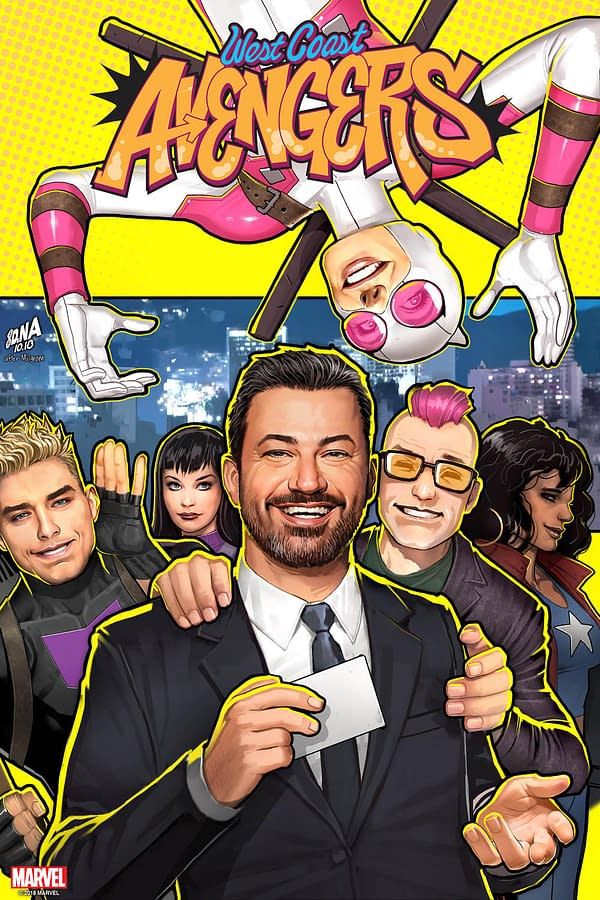 Jimmy Kimmel to Appear in West Coast Avengers #4, and On David Nakayama Variant