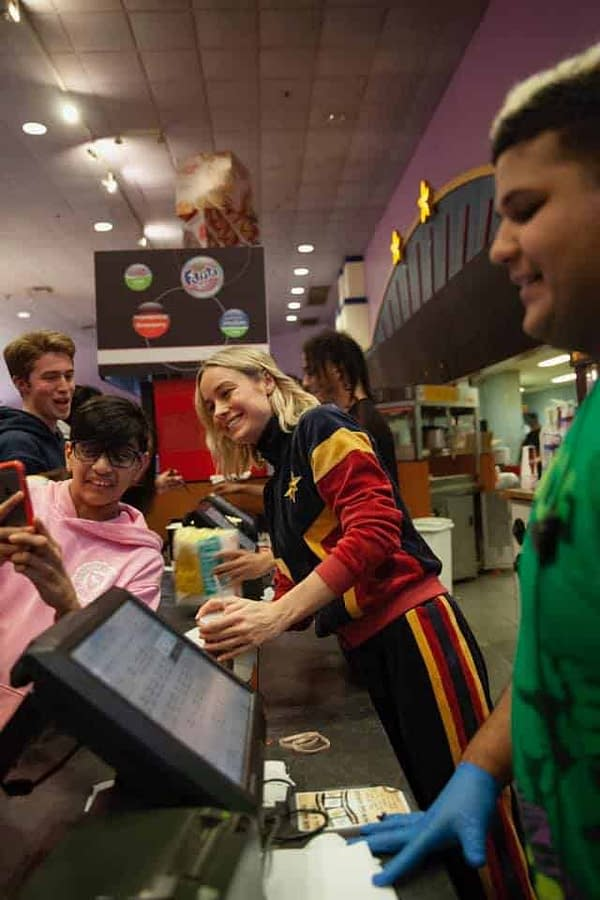 Brie Larson Surprises Fans at 'Captain Marvel' Showing, $455 Million Global Opening