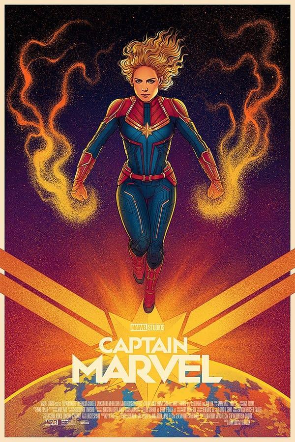 Mondo has an Awesome Jen Bartel Captain Marvel Poster on Sale Until April 28