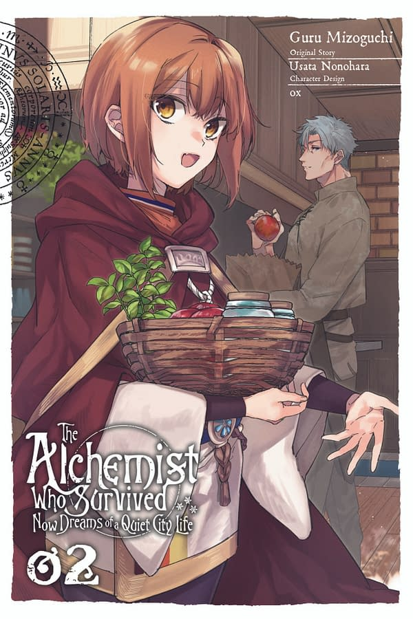 The official cover for The Alchemist Who Survived Now Dreams of a Quiet City Life, Vol. 2 published by Yen Press.