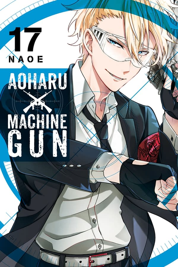 The official cover for Aoharu X Machinegun, Vol. 17 published by Yen Press.