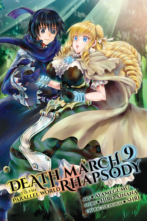 The official cover for Death March to the Parallel World Rhapsody, Vol. 9 published by Yen Press.