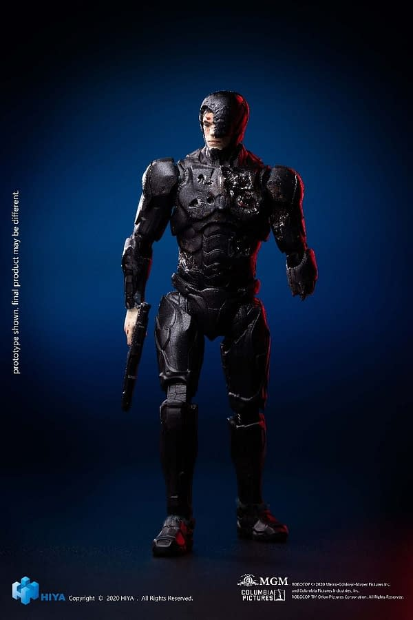 Battle Damaged 2014 RoboCop from Hiya Toys