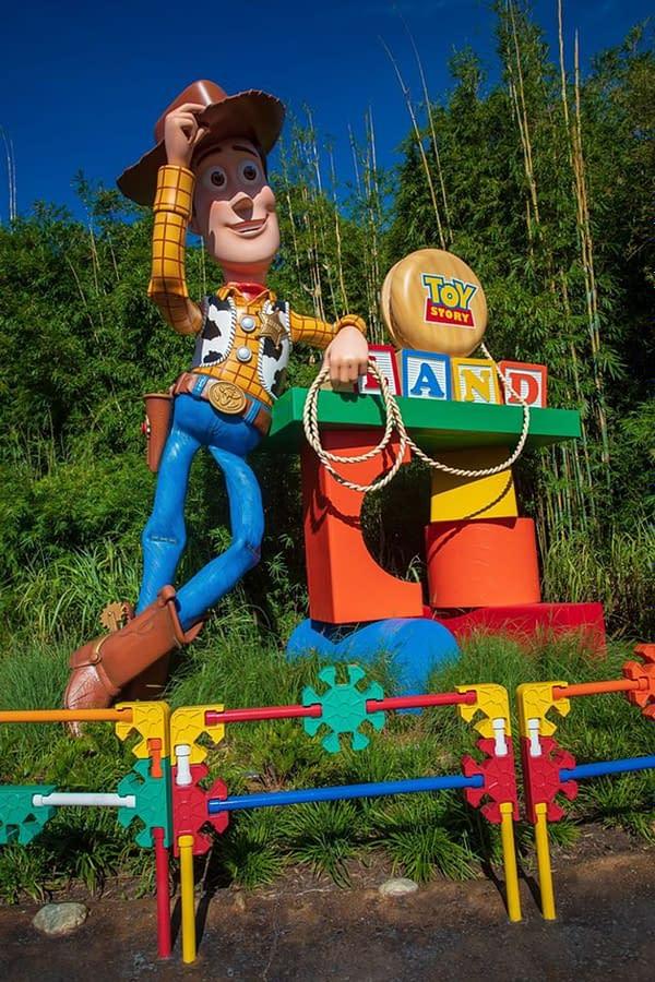 Toy Story Land in Hollywood Studios in Walt Disney World. Image Credit: Baltimore Lauren