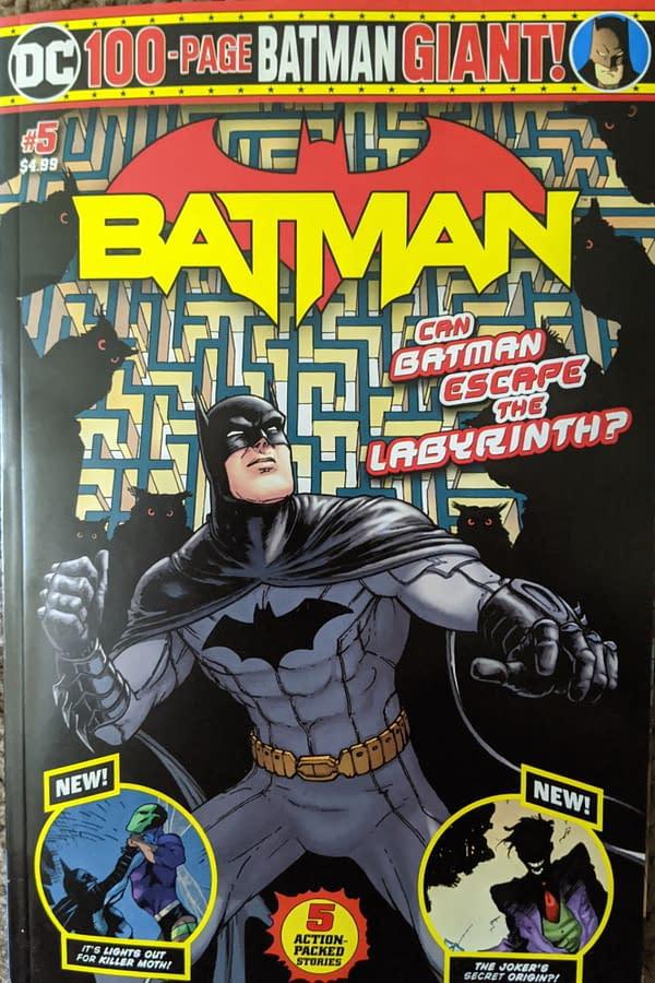 The Joker Gets a New Origin in Batman Giant #5 in Walmart.