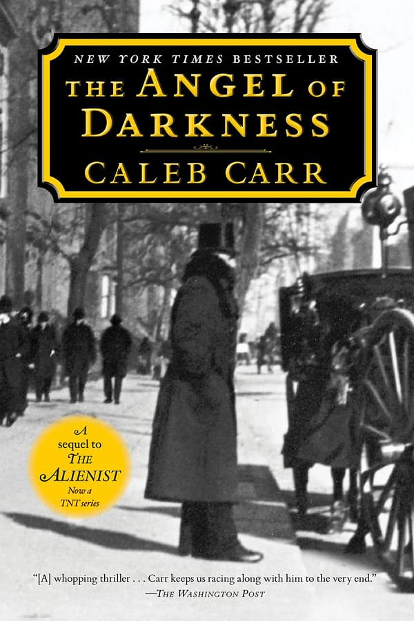 The cover to The Angel of Darkness by Caleb Carr, courtesy of Ballantine Books.