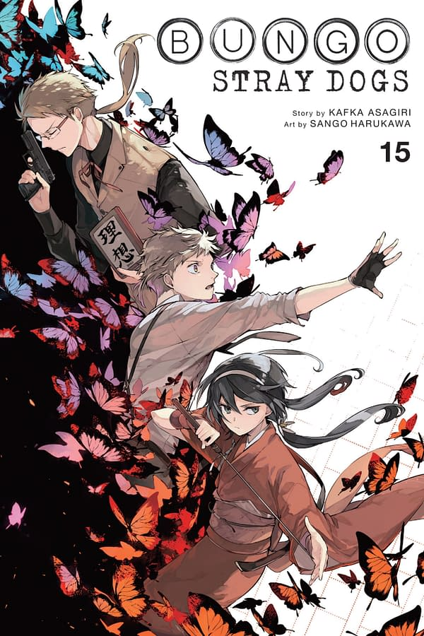 The cover of Bungo Stray Dogs, Vol. 15 by Yen Press.