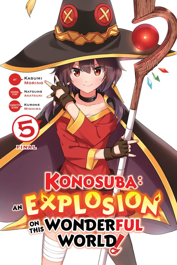 The cover of Konosuba: An Explosion on This Wonderful World!, Vol. 5 (manga) by Yen Press.