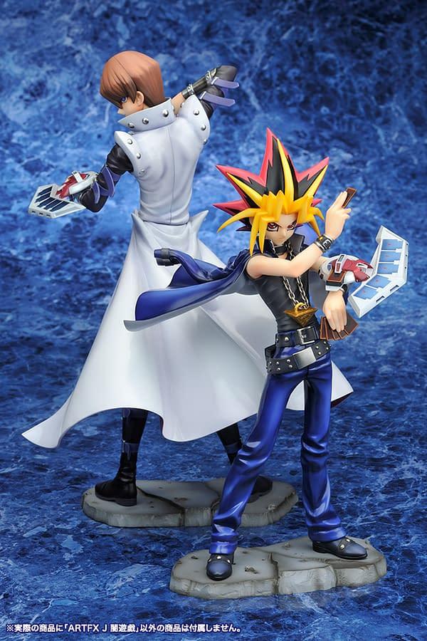Yu-Gi-Oh and Kaiba Play Their Hand with Kotobukiya Statues