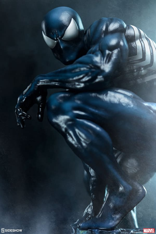 Symbiote Spider-Man is Back with New Sideshow Collectibles Statue