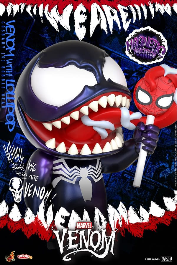 Venom Snacks on Some Candy in the Newest Hot Toys Cosbaby Figure