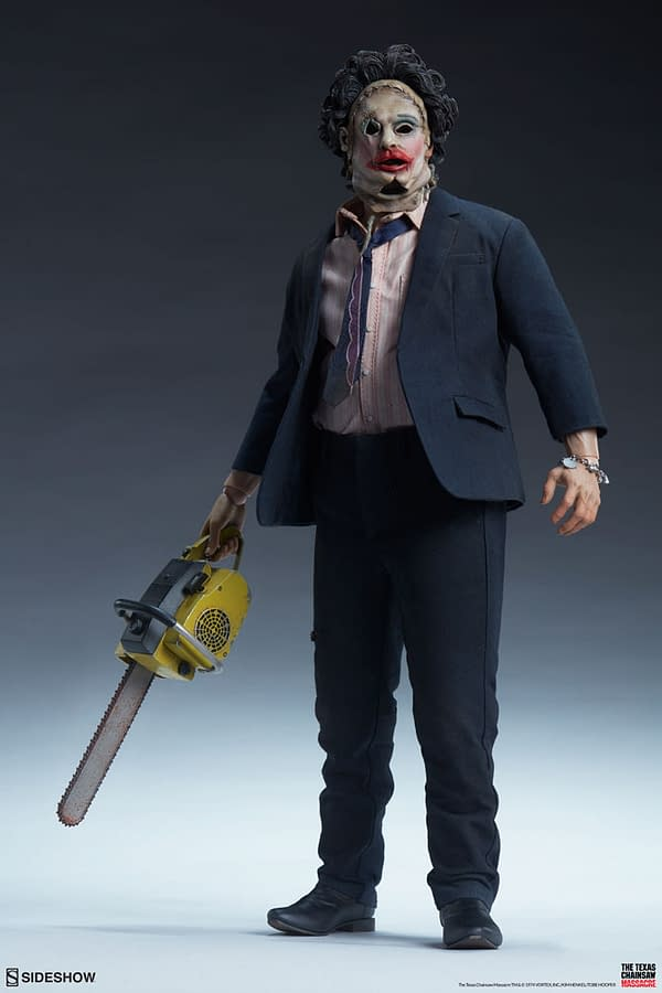 Texas Chainsaw Massacre Strikes Once Again at Sideshow Collectibles   Sideshow Collectibles is bringing the Texas Chainsaw Massacre legend to life with their newest deluxe figure thats perfect for any fan.  #Leatherface returns as #SideshowCollectibles announces their deluxe sixth scale #TexasChainsawMassacre figure    Leatherface, Texas chainsaw massacre, sideshow collectibles