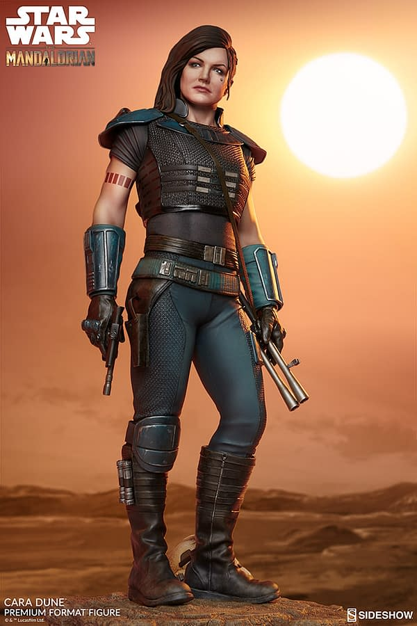 The Mandalorian Cara Dune Gets New Statue from Sideshow Collectibles
