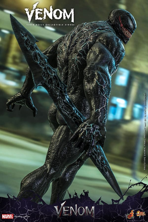 Venom Crash Lands On Earth With New Hot Toys Figure