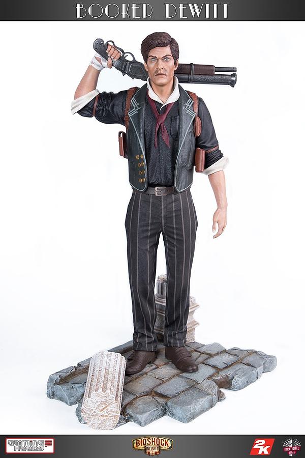 Bioshock Infinite Booker DeWitt Statue Gaming Heads Statue Revealed