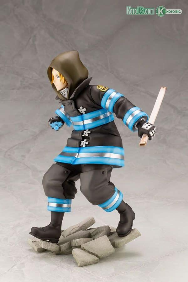 Fire Force Arthur Boyle Brings the Heat and Excalibur To Kotobukiya