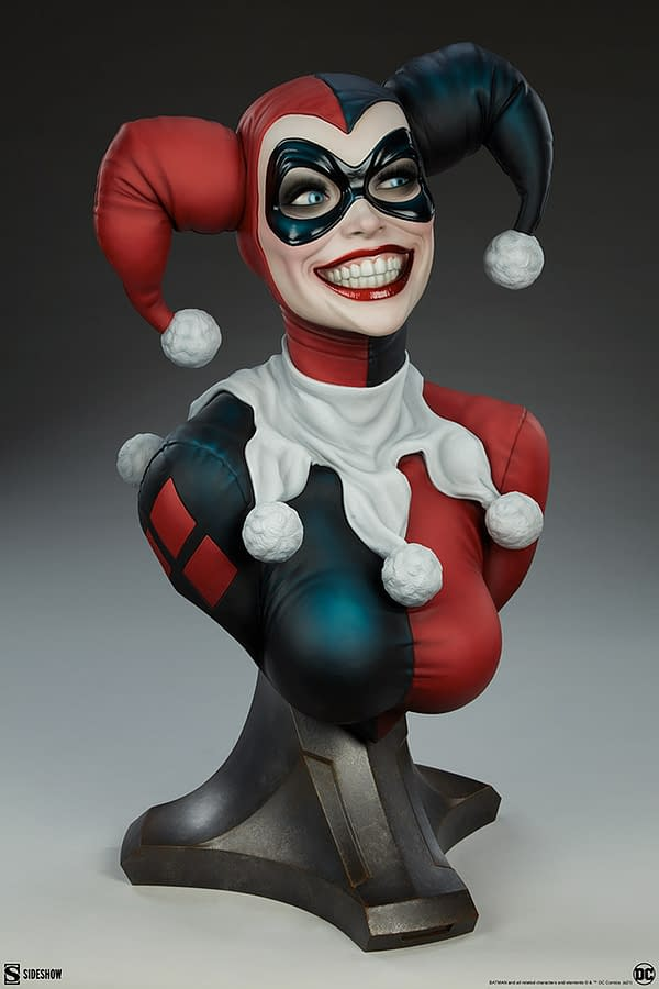Harley Quinn Is Sweet but a Psycho in New Sideshow Collectibles Bust