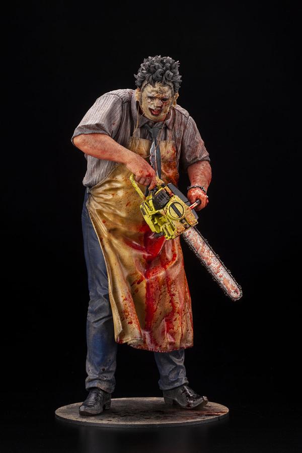 Leatherface is Back With New Bloody 300 Piece Statue From Kotobukiya