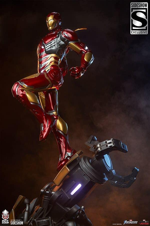 Marvel's Avengers Iron Man Gets New Light Up PSC Statue