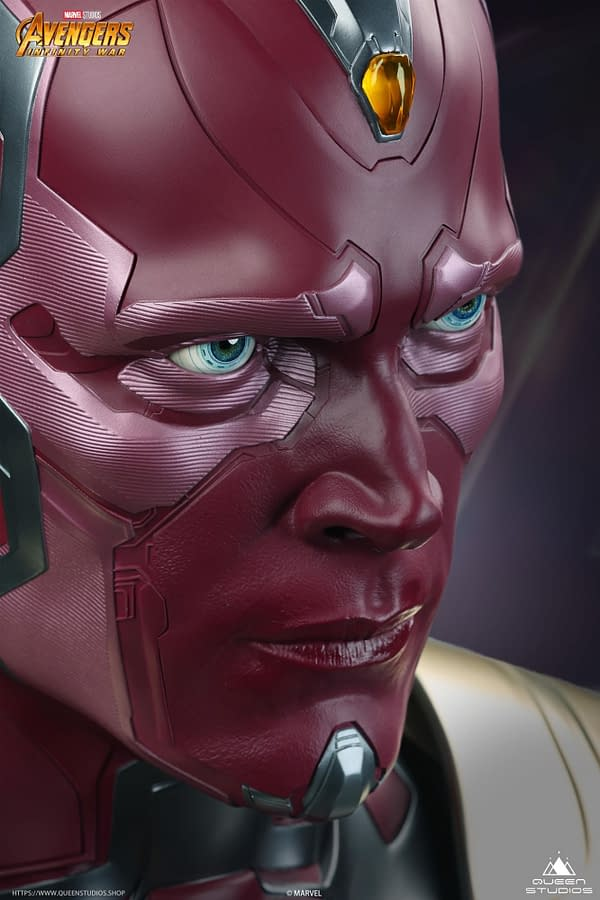 Vision Goes Life-Size With New Infinity War Bust From Queen Studios
