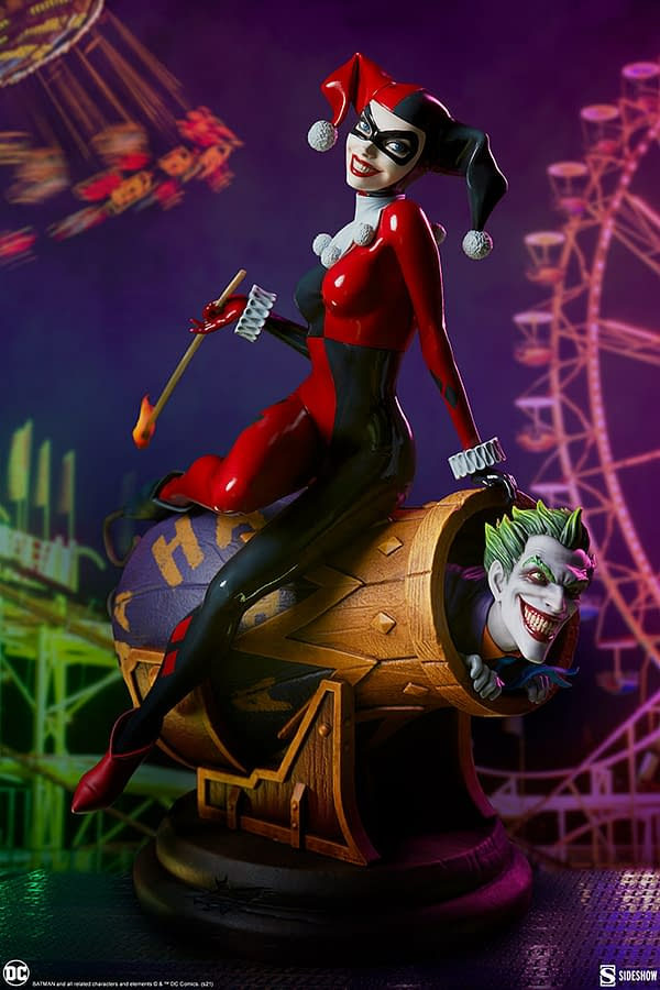 Harley Quinn and Joker Take To The Stage With New Sideshow Diorama