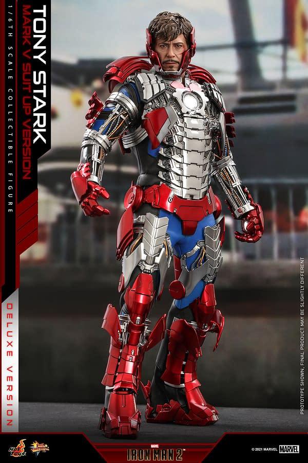 Tony Stark Suits Up With New Iron Man 2 Mark V Hot Toys Figure