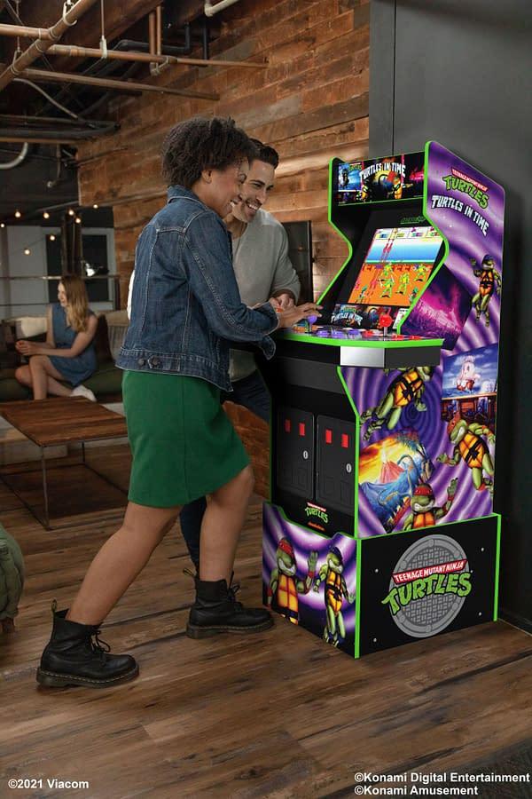 Cowabunga, dude! Courtesy of Arcade1Up.