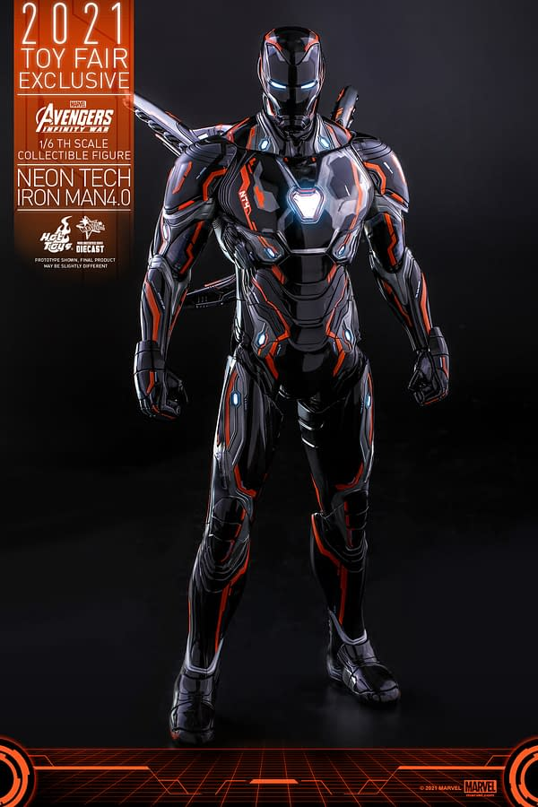 Iron Man Enters The Grid With Hot Toys New Neon Tech Figure
