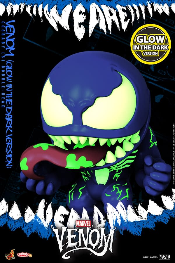 Venom Lights Up the Night With New Hot Toys GITD Cosbaby