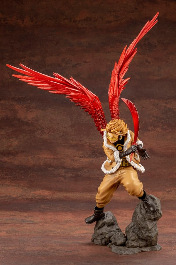 My Hero Academia Hawks Swoops In With New Kotobukiya Statue