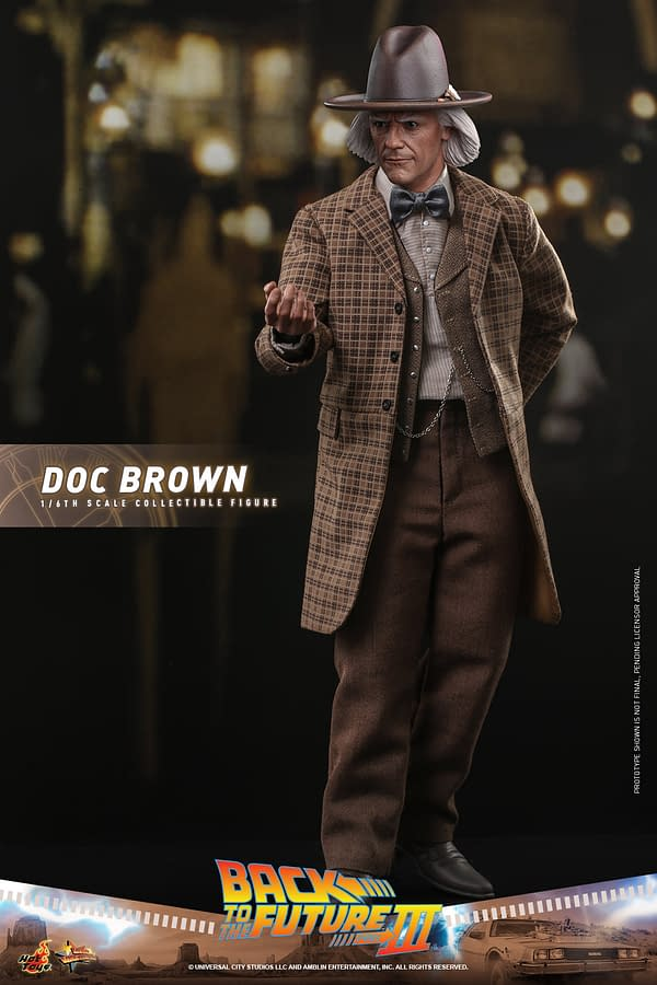 Great Scott! Back to the Future Part III Doc Brown Arrives at Hot Toys