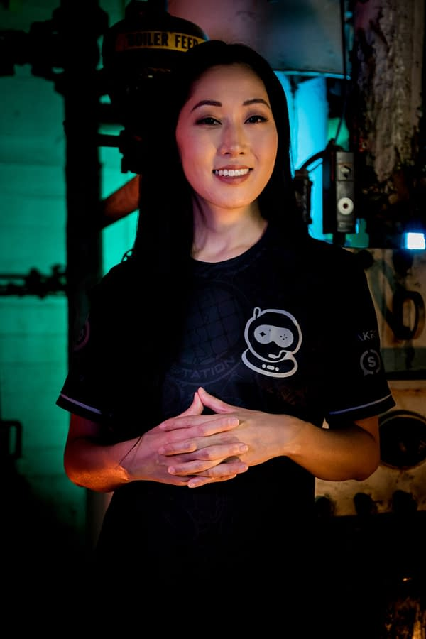 Takahashi sporting the team's jersey as she comes in as the new co-owner, courtesy of Spacestation Gaming.
