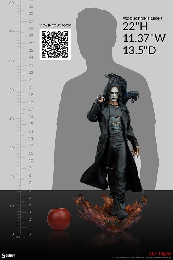 The Crow Gets New Premium Format Figure from Sideshow Collectibles