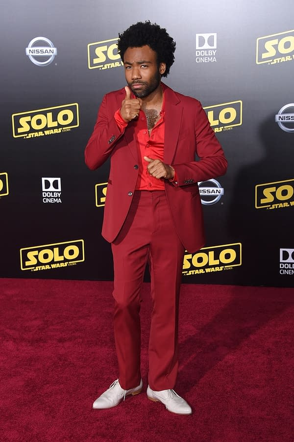 """Donald Glover arrives to the """"Solo: A Star Wars Story"""" World Premiere on May 10, 2018 in Hollywood, CA"""