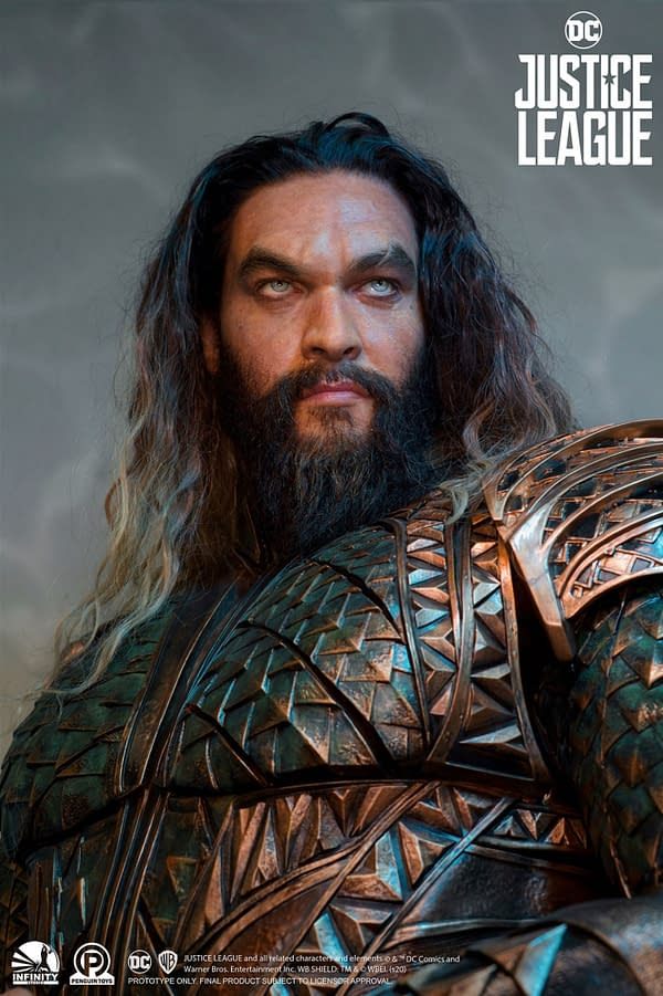 Aquaman from Justice League Comes to Life with Infinity Studio