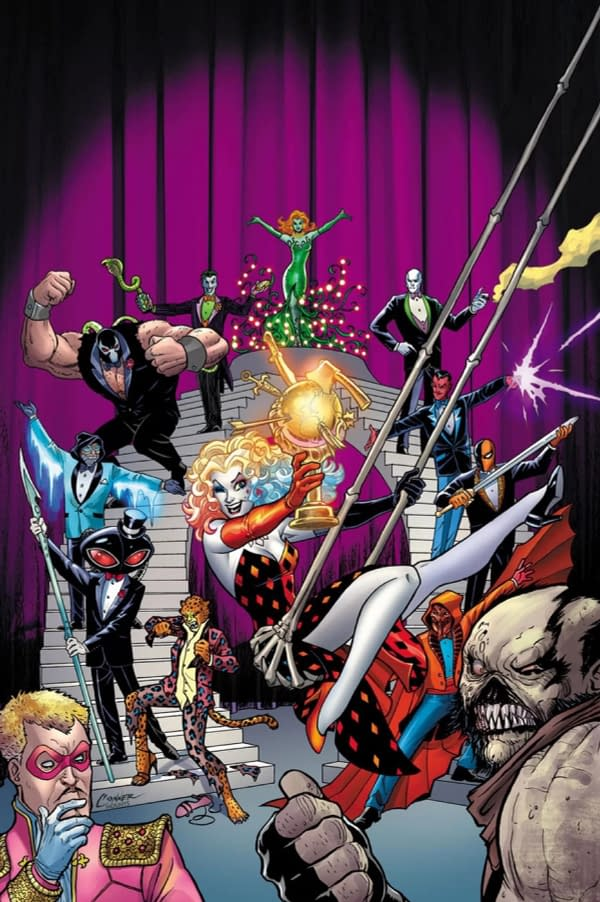 Harley Quinn Hosts the Villain of the Year Awards, by Mark Russell, Mike Norton, and You