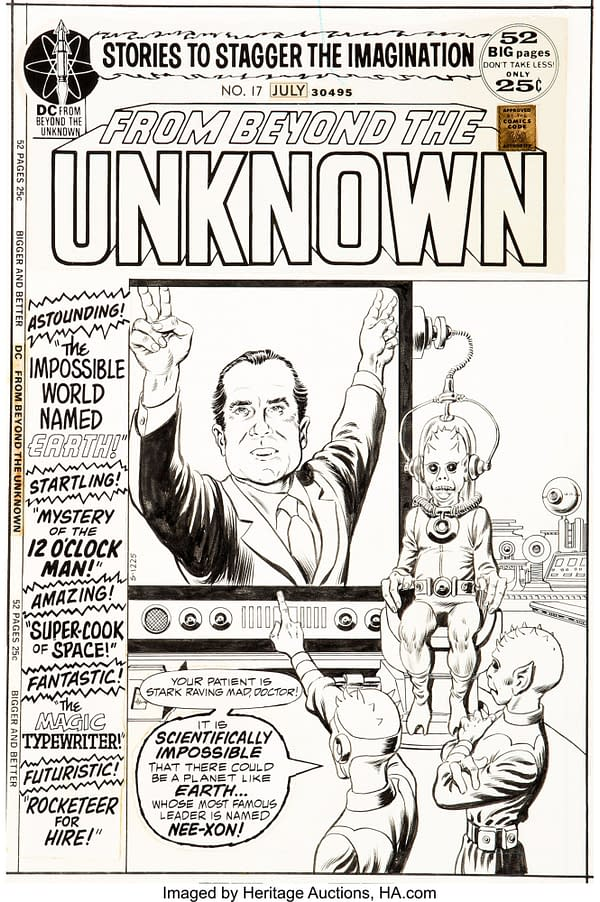 Murphy Anderson Original Artwork, Up for Auction at Heritage – With Added Richard Nixon