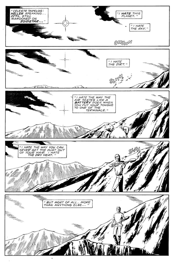 The First 6 Pages of Grant Morrison and Steve Yeowell's Zoids,