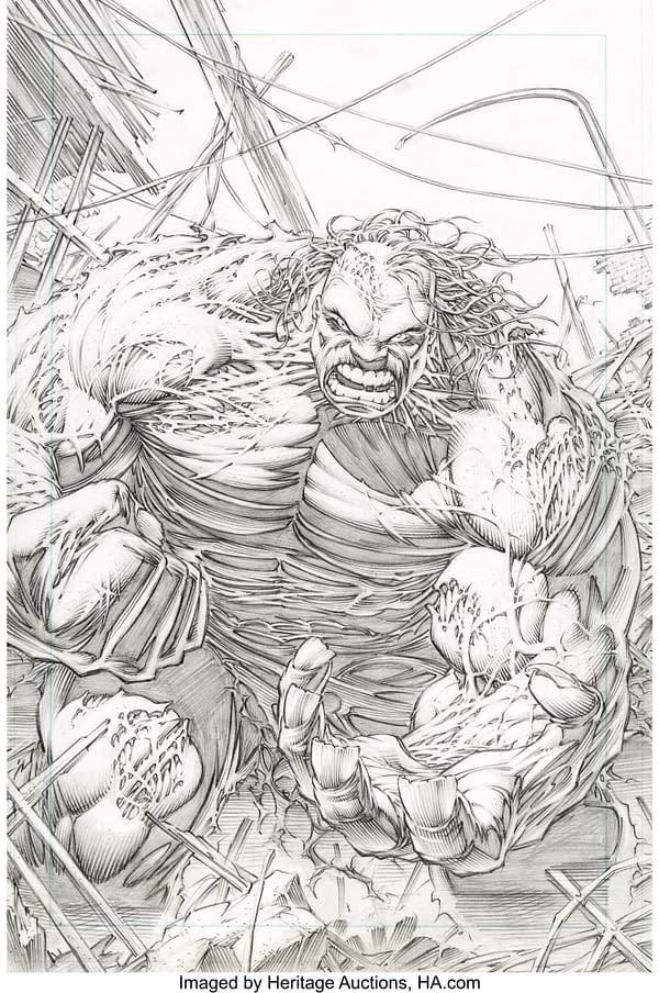 Dale Keown Hulk and Wolverine Original Artwork at Auction