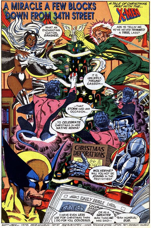 Celebrating the Time the X-Men Met Santa Claus in the 1991 Marvel Holiday Special