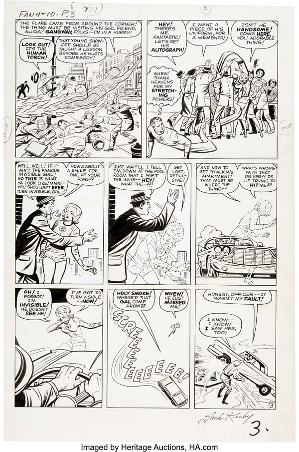 24 Amazing Pages Of Jack Kirby Original Artwork At Auction