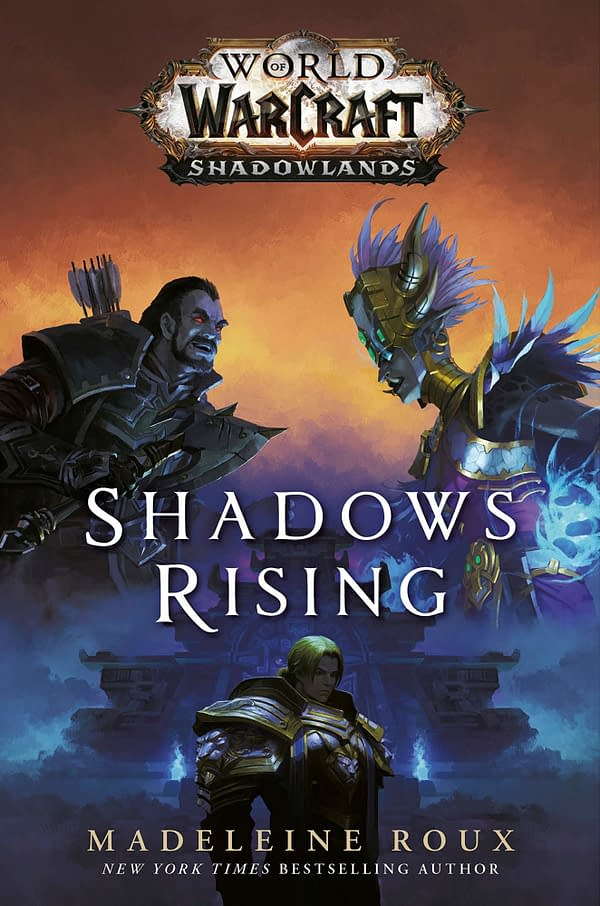 The cover for World Of Warcraft: Shadowlands - Shadows Rising from Del Ray Books.