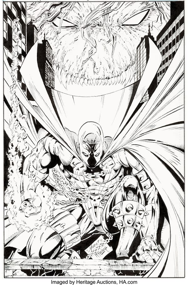 The Earliest Todd McFarlane Spawn Original Art Ever Sold - Just About.