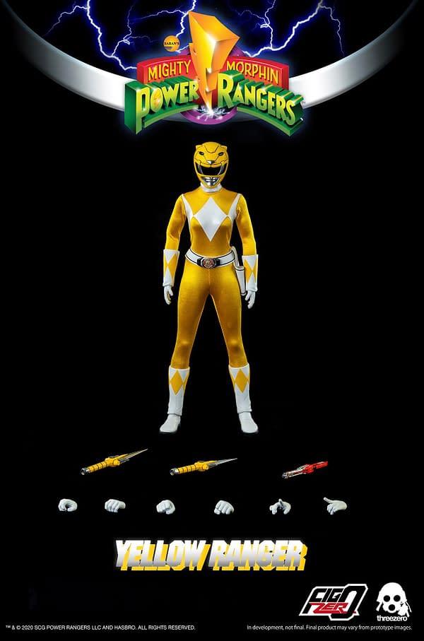Power Rangers Yellow Ranger Heroically Arrives at threezero