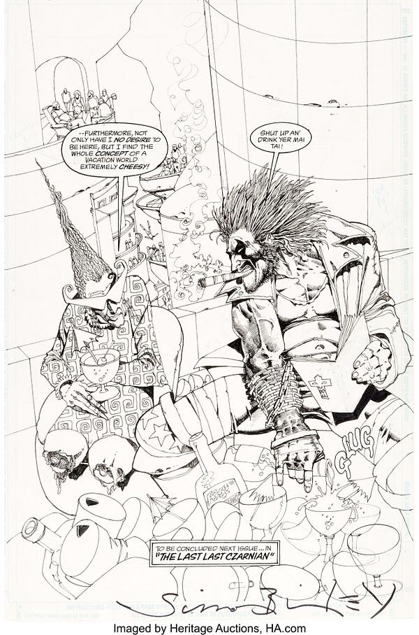 Simon Bisley Lobo Original Covers and Artwork At Auction
